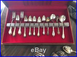 1847 Rogers Remembrance Silverware 8 Six Piece Place Settings Storage Chest