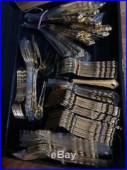 1847 rogers bros 24k gold plated silverware vintage VTG collectors set