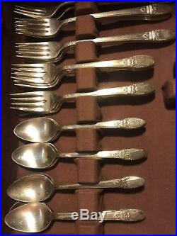 1847 rogers bros silverware Vintage Box And Set, 1937 first love set. Beautiful