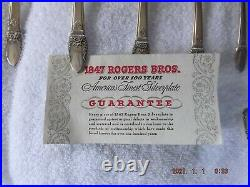 1847 rogers bros silverware engraved with first love 76 piece set
