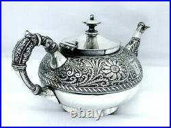 1860 Aesthetic Rogers Smith Godess Bust Cast Applied Assyrian Head Teapot Htf