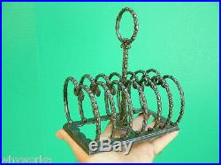 1860s ROGERS SMITH & CO Silver Plated napkin letter holder 6 Slice Toast Rack
