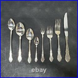 1881 Rogers ONEIDA Silverplate ALOUETTE Flatware Set 101 Pieces Service 10 1978