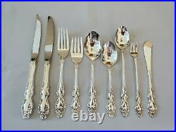 1881 Rogers Oneida BAROQUE ROSE Silverplate 114 Pc Silverware Set for 12