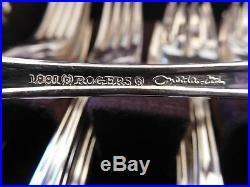 1881 Rogers Oneida Ltd King James Silver Plate Flatware Plated 86 Piece
