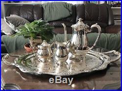 1881 Rogers Silver Platted Glenrose Tea Set With Serving Platter