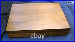 1916 Heraldic 1847 Rogers Bros International Silver Plate Flatware 55 Pcs Box