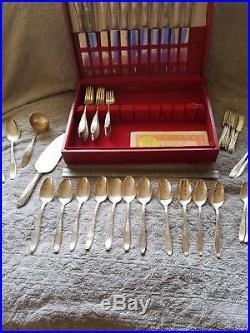 1930 AD 1847 Rogers Bros Flatware Silverware Daffodil & Ambassador Pattern Set
