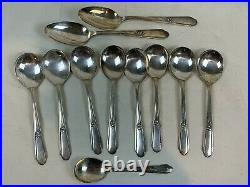 1937 William Rogers silverplate service for eight 54 piece Memory / Hiawatha 450