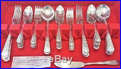 1949 Wm. A. Rogers A1 Plus Silver plate silverware set 74 Rosalie Oneida Ltd