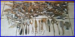 (350) Antique Vintage Mixed Flatwae Silverware Gorham Rogers Hampton Wallace Set