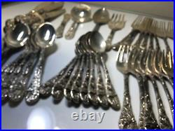48 Pieces Embossed FB Rogers Silverplate Set, Holly Pattern Serving#jjj