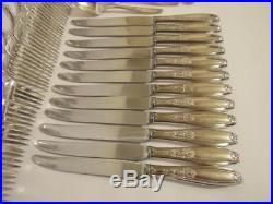 48 pc 1847 Rogers Bros Ambassador Silverplate Flatware Set Silver Service for 12