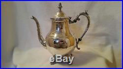 4 Pc FB Rogers Silver Co 1883 Victorian Silverplate Coffee Tea Service Set