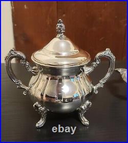 4 Pc Towle Louis Philippe Silverplate Tea/Coffee Set plus FB Rogers 1883 Tray