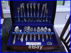 52 Pc. VINTAGE 1847 ROGERS BROS IS Silverplate DAFFODIL SERVICE FOR 8 SILVERWARE