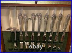 52 Pcs 1847 Rogers Bros Remembrance Pattern Silverware Flatware Silver Plate