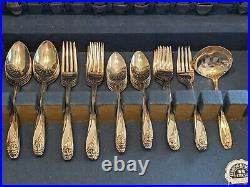 52 pc. Daffodil Silverplate Flatware set by 1847 Rogers Bros