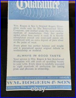 55 Pc + Wm Rogers & Son VICTORIAN ROSE Silver plate Flatware Set, Service 8 #543
