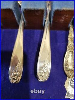 56 PIECES 1847 Rogers Bros Daffodil Silver Plate Silverware Flatware Service 8