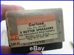 56 Pcs 1847 Rogers Bros. Garland Silverplate Flatware