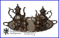5 Piece 1883 FB Rogers Co Silver Plate Tea & Coffee Serving Set