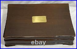 (60 pc) Wm Rogers X12 1922 Homestead By Alfred G. Kintz Silverware Set + Chest