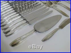 62 pc. Silver plate flatware set 1847 Rogers Bros silhouette pattern silverware