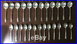63 Piece 1847 Rogers Bros First Love Silverplate Flatware For 12