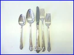 64 Piece PRECIOUS 1941 Rogers Deluxe Silver Plate Flatware Service for 12+ MCM
