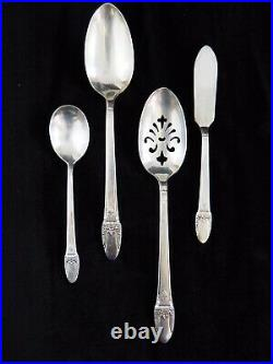 76 Pc Rogers Bros IS Silverplate Flatware FIRST LOVE Service 12 withServe Pcs /c