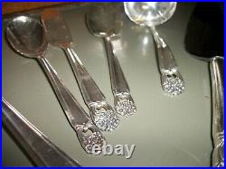 79Pcs. 1847 Rogers Bros. Eternally Yours Silverplate Flatware Services12 Serving