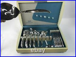 80 Pc Service for 12 FLAIR 1847 Rogers Bros Silverplated Flatware BLONDE BOX