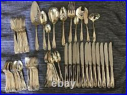 81 pcs Service For 12 1847 Rogers Bros DAFFODIL Silverplate Silverware