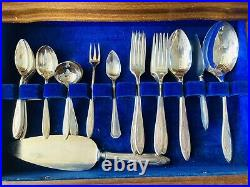 88 PCS Set Rogers Bros Silver Plate Silverware Flatware Vintage With Chest