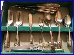 92 Pcs 1847 Rogers Eternally Yours Original Silverware Flatware Silver Plate Lot