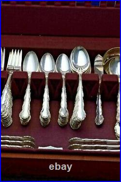93 Pc. Silver Plate Set 1881 Rogers Oneida Flirtation