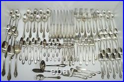 95 Pc Lot 1847 ROGERS BROS IS REMEMBRANCE SILVERPLATE FLATWARE SILVERWARE