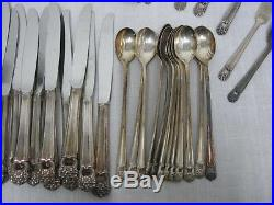 95 Pcs 1847 Rogers Bros. Eternally Yours Silverplate Flatware