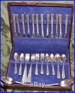 American Silver Co. 12 Setting flatware & 6 Piece Wm A Rogers Tea/Coffee Service