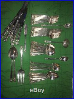 Antique 1847 Rogers Bros. Eternally Yours (62 Pieces) Silverware