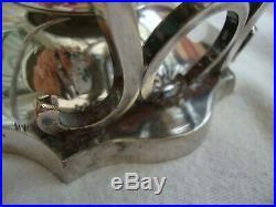 Antique American Silver Plate Large Spirit Kettle Tea Pot Rogers Smith Meriden