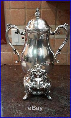 Antique F B Rogers 1883 Silverplate Samovar Tea Coffee Urn # 1354
