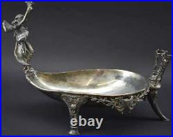 Antique Rogers Smith & Co. Meriden Conn. Silver Plate Victorian Serving Dish #1