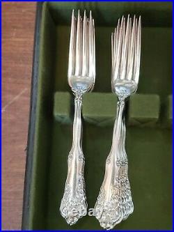 Antique Silver Plate 1904 Wm. Rogers Berwick Flatware Lot in Tarnish Proof Chest