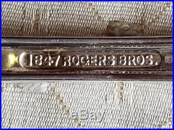 Antique Sterling Plate 1847 Rogers Bros. 6 Place Plus Silverware Set! Free Ship
