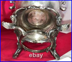 Antique Vintage Silver Plated 16 Tall Coffee Urn Samovar FB Rogers estate find