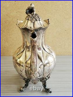 Antique Vintage Silver Plated Coffee Tea Pot Roger Brothers Hartford 11'' T