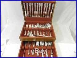 Antique Wm. Rogers Berwick Pat. 1904 Diana Silverplate 65 peices ornate, eloguent