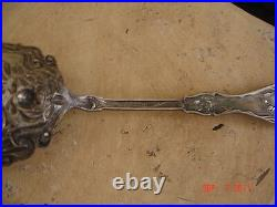 Antique Wm Rogers Silverplate Sxr Serving Spoon Rose Patd Jan 14 1903
